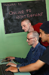 Service Users accessing the internet at On Line to Resettlement,