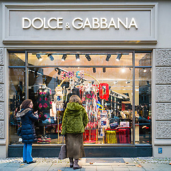 Dolce & Gabbana boutique on famous Kurfurstendamm shopping street in Berlin, Germany.