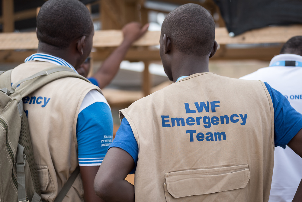 30 May 2019, Mokolo, Cameroon: Lutheran World Federation staff oversee a water pumping station near Mayo Luti ('River Luti') that provides water to the Minawao camp for Nigerian refugees. The Minawao camp for Nigerian refugees, located in the Far North region of Cameroon, hosts some 58,000 refugees from North East Nigeria. The refugees are supported by the Lutheran World Federation, together with a range of partners.