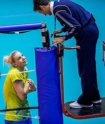 24-08-2017 NED: World Qualifications Belgium - Slovenia, Rotterdam<br /> Eva Mori #1 of Slovenia<br /> Photo by Ronald Hoogendoorn / Sportida