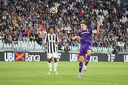 September 20, 2017 - Turin, Piedmont, Italy - Federico Chiesa (ACF Fiorentina)  in action during the Serie A football match between Juventus FC and ACF Fiorentina at Allianz Stadium on 20 September, 2017 in Turin, Italy. .Juventus win 1-0 over Fiorentina. (Credit Image: © Massimiliano Ferraro/NurPhoto via ZUMA Press)