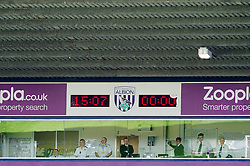 The match gets underay 7 minutes late at 15:07 as a mark of remembrance for the 25th anniversary of the Hillsborough disaster - Photo mandatory by-line: Rogan Thomson/JMP - 07966 386802 - 12/04/2014 - SPORT - FOOTBALL - The Hawthorns Stadium - West Bromwich Albion v Tottenham Hotspur - Barclays Premier League.