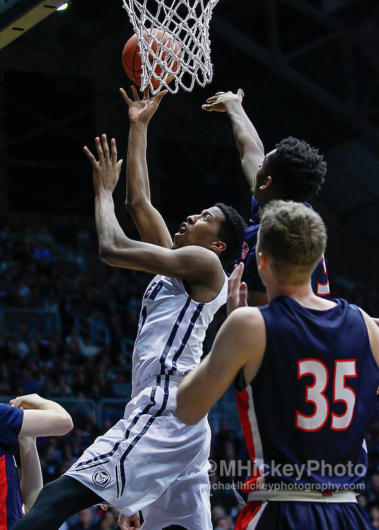 INDIANAPOLIS, IN - DECEMBER 28: Kameron Woods #31 of the Butler Bulldogs shoots the ball against the Belmont Bruins at Hinkle Fieldhouse on December 28, 2014 in Indianapolis, Indiana. (Photo by Michael Hickey/Getty Images) *** Local Caption *** Kameron Woods