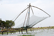 Thursday 14th August 2014: Chinese fishing nets overlook the channel between Fort Kochi and Vypeen.