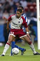 Fotball<br /> Frankrike<br /> <br /> NORWAY ONLY<br /> <br /> FOOTBALL - SEASON 2003/2004 - FRIENDLY GAME - PARIS SG v  FC PORTO - 030726 - TALAL EL KARKOURI (PSG) - PHOTO GUY JEFFROY / FLASH PRESS