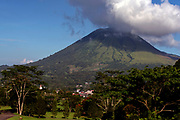 Mt. Lokon on Tondano plain, close to Tomohon, northern Sulawesi, Indonesia.