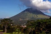 Mt. Lokon on Tondano plain, close to Tomohon, northern Sulawesi, Indonesia.