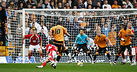 Photo: Steve Bond/Sportsbeat Images.<br />Wolverhampton Wanderers v Bristol City. Coca Cola Championship. 03/11/2007. Jay Bothroyd (10) squeezes the ball between the defenders to score