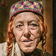Portrait of an old Wakhi lady.