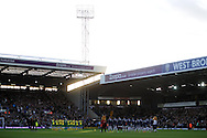 Both teams and officials show their respect with a minutes applause for Nelson Mandela.Barclays Premier league, West Bromwich Albion v Norwich city at the Hawthorns in West Bromwich, England on Sat 7th Dec 2013. pic by Andrew Orchard, Andrew Orchard sports photography.