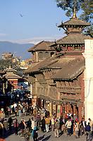 Nepal. Vallee de Katmandou. Katmandou. Durbar Square. // Nepal. Kathmandu valley. Kathmandu. Durbar Square.