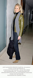 LADY ALEXANDRA SPENCER-CHURCHILL at a party in London on 9th April 2003.PIU 41