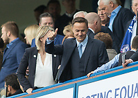 Football - 2016 / 2017 Premier League - Chelsea vs. Sunderland <br /> <br /> Former Chelsea player Dennis Wise takes his seat in the directors box at Stamford Bridge.<br /> <br /> COLORSPORT/DANIEL BEARHAM