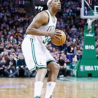 24 January 2013: Boston Celtics small forward Paul Pierce (34) eyes the basket during the New York Knicks 89-86 victory over the  at the TD Garden, Boston, Massachusetts, USA.