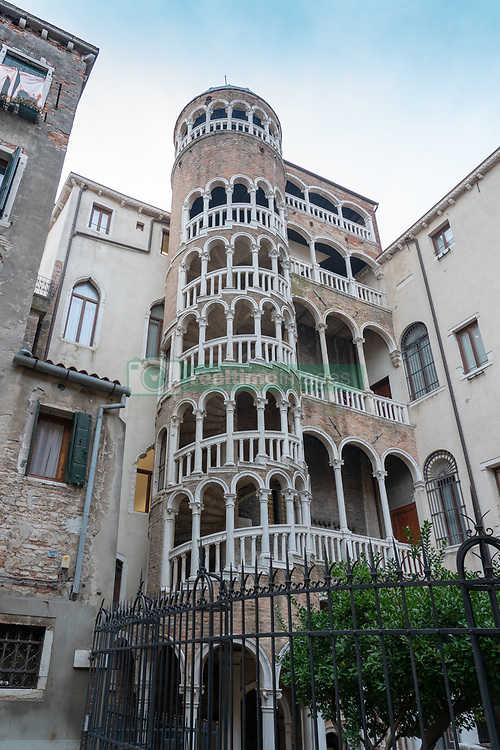 The Scala Contarini del Bovolo spiral staircase in Venice. From a series of travel photos in Italy. Photo date: Monday, February 11, 2019. Photo credit should read: Richard Gray/EMPICS