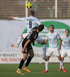 Teddy Bergqvist (FC Helsingør) under kampen i 1. Division mellem FC Helsingør og Kolding IF den 24. oktober 2020 på Helsingør Stadion (Foto: Claus Birch).