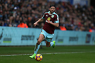 George Boyd of Burnley in action.Premier league match, Swansea city v Burnley at the Liberty Stadium in Swansea, South Wales on Saturday 4th March 2017.<br /> pic by Andrew Orchard, Andrew Orchard sports photography.