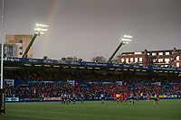 Rugby Union - 2017 / 2018 Guinness Pro14 - Cardiff Blues vs. Scarlets<br /> <br /> view of the ground  & west grandstand with rainbow , at Cardiff Arms Park.<br /> <br /> COLORSPORT/WINSTON BYNORTH