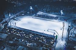 THEMENBILD - Blick auf die finnische Stadt Lahti mit den Lichtern der Stadt im Winter mit Schnee bedeckt und das Stadion, aufgenommen am 09. Februar 2019 in Lahti, Finnland // View of the Finnish city Lahti with the lights of the city in winter covered with snow and the Stadium Lahti, Finland on 2019/02/09. EXPA Pictures © 2019, PhotoCredit: EXPA/ JFK