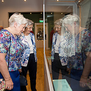 30.05. 2017.                                             <br /> Limerick Museum opened the doors to its new home at the former Franciscan Friary on Henry Street in the heart of Limerick city, dedicated to the memory of Jim Kemmy, the former Democratic Socialist Party and Labour Party TD for Limerick East and two-time Mayor of Limerick.<br /> <br /> Pictured at the opening of the Museum were lace makers, Caroline Ahern, Shelbourne Park and Eileen McCaffrey, Corbally admiring some of the Lace display.<br /> <br /> The museum will house one of the largest collections of any Irish museum. Picture: Alan Place