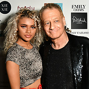 Mia Rothwell and Alan Enfield Arrivers at Nina Naustdal catwalk show SS19/20 collection by The London School of Beauty & Make-up at Bagatelle on 26 Feb 2019, London, UK.
