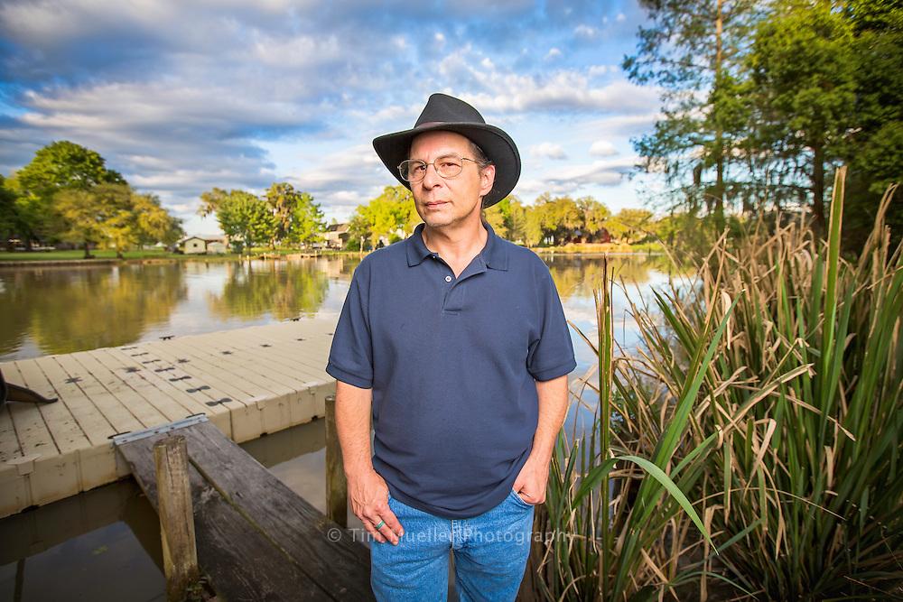 Chitimacha tribal member Roger Stouff at Bayou Teche.