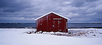 Boat shed at Eggum, Vestvågøy, Lofoten islands, Norway