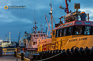 Fishing ships in harbor at Hofn, Iceland