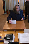 Rechitsy, Russia, 02/03/2008..Russians vote during the Presidential election that President Vladimir Putin's chosen heir Deputy Prime Minister Dmitry Medvedev is expected to win easily in the first round.