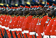 Guard of Honour of soldiers standing to attention, Kenya