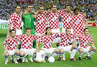 Fotball<br /> VM 2006<br /> Brasil v Kroatia / Croatia<br /> 13.06.2006<br /> Foto: Witters/Digitalsport<br /> NORWAY ONLY<br /> <br /> Team Kroatien<br /> hinten v.l. Josip Simunic, Stipe Pletikosa, Dado Prso, Igor Tudor, Markoc Babic, Niko Kranjcar<br /> vorn v.l. Dario Srna, Ivan Klasnic, Niko Kovac, Robert Kovac, Dario Simic<br /> Lagbilde