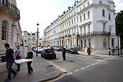 Homes on Stanley Gardens in Notting Hill, West London. Made famous from the movie of the same name.