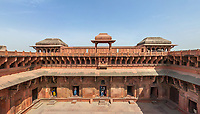 Aerial view of Agra Fort, India
