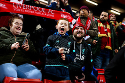 Liverpool fans - Mandatory by-line: Robbie Stephenson/JMP - 11/03/2020 - FOOTBALL - Anfield - Liverpool, England - Liverpool v Atletico Madrid - UEFA Champions League Round of 16, 2nd Leg