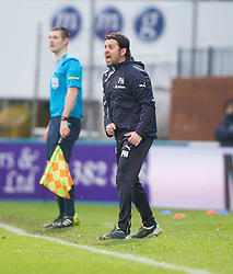 Dundee's manager Paul Hartley. <br /> Dundee 2 v 1  Dundee United, SPFL Ladbrokes Premiership game played 2/1/2016 at Dens Park.