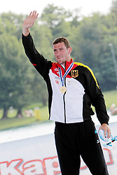22.08.2015, Mailand, ITA, Kanu WM 2015, im Bild Sebastian Brendel (Potsdam) wird in Mailand Weltmeister im CI 1.000m // during the 2015 canoe world championship at Mailand, Italy on 2015/08/22. EXPA Pictures © 2015, PhotoCredit: EXPA/ Eibner-Pressefoto/ Freise<br /> <br /> *****ATTENTION - OUT of GER*****