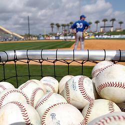 Feb 23, 2013; Lakeland, FL, USA; A detail of baseballs in the bin before a spring training game against the Toronto Blue Jays at Joker Marchant Stadium. Mandatory Credit: Derick E. Hingle-USA TODAY Sports
