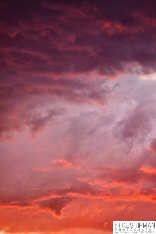 Sunset with pink and orange