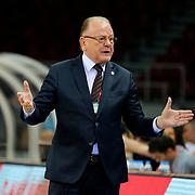 Anadolu Efes's coach Dusan Ivkovic during their Turkish Basketball League Play Off round 3 match Anadolu Efes between Turk Telekom at Abdi Ipekci Arena in Istanbul Turkey on Tuesday 26 May 2015. Photo by Aykut AKICI/TURKPIX