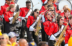 Sep 14, 2019; Morgantown, WV, USA; Members of the North Carolina State Wolfpack band perform during the third quarter against the West Virginia Mountaineers at Mountaineer Field at Milan Puskar Stadium. Mandatory Credit: Ben Queen-USA TODAY Sports
