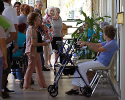 Elderly line-up to cast their votes at polling precinct inside Miami-Dade HUD housing project for the elderly in Miami, Fla., on Tuesday, November 6, 2018. Photo by Carl Juste, Miami Herald/TNS/ABACAPRESS.COM