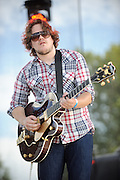 Cory Chisel performing at LouFest in St. Louis on August 29, 2010.