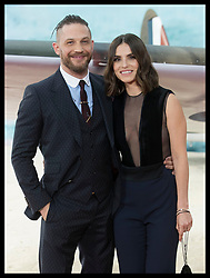 July 13, 2017 - London, London, United Kingdom - Image licensed to i-Images Picture Agency. 13/07/2017. London, United Kingdom. Tom Hardy and his wife Charlotte Riley arriving  at the world premiere of Dunkirk in London Picture by Stephen Lock / i-Images (Credit Image: © Stephen Lock/i-Images via ZUMA Press)