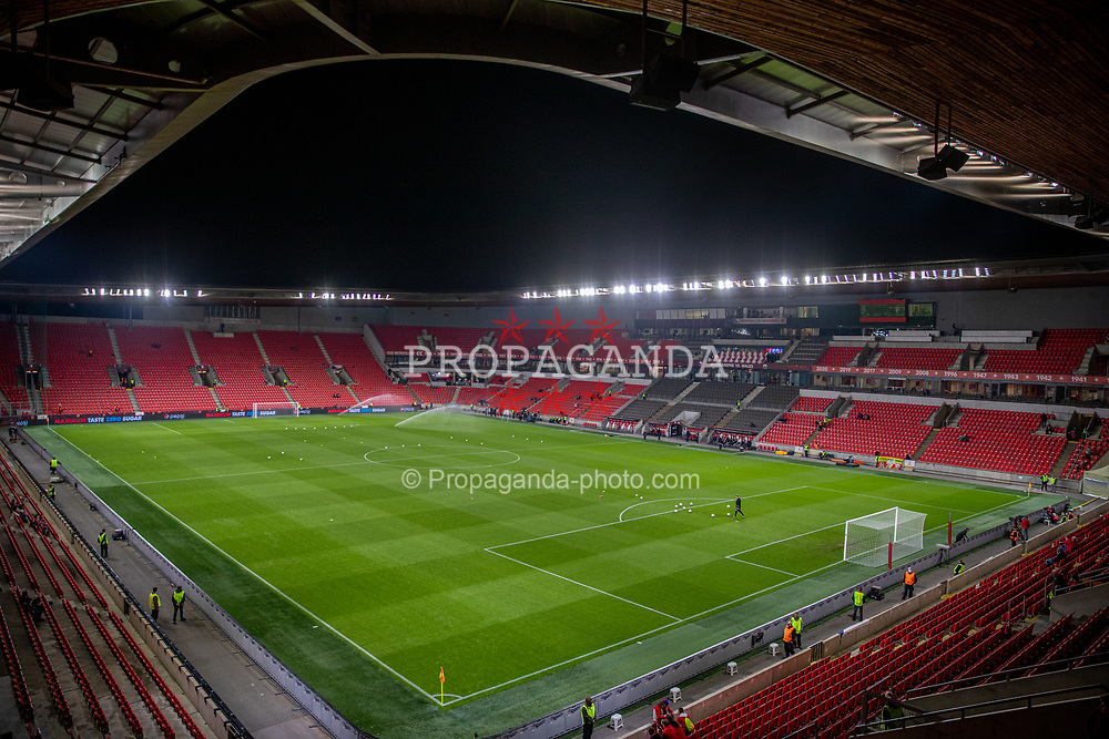 PRAGUE, CZECH REPUBLIC - Friday, October 8, 2021: A general view before the FIFA World Cup Qatar 2022 Qualifying Group E match between Czech Republic and Wales at the Sinobo Stadium. The game ended in a 2-2 draw. (Pic by David Rawcliffe/Propaganda)