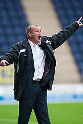 Gus MacPherson, manager of Queen of the South..Falkirk 1 v 0 Queen of the South, 15/10/2011..Pic © Michael Schofield.