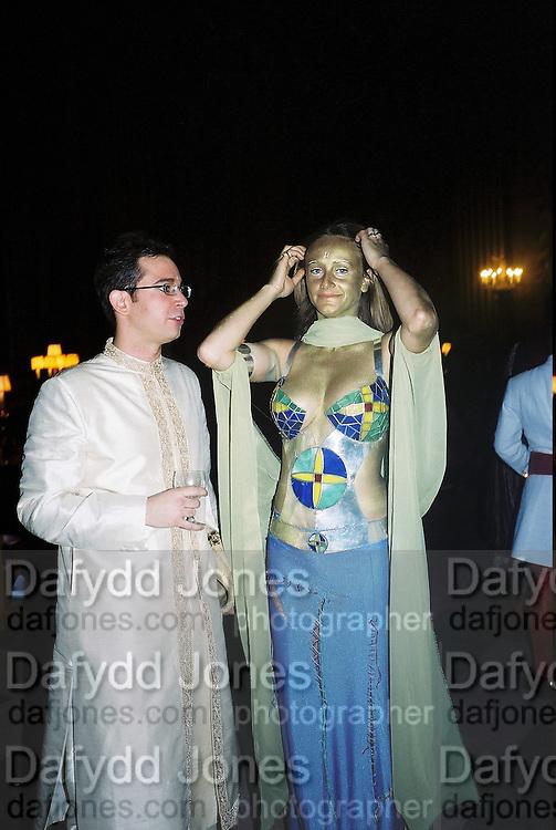Elebetta Caraccia and Alec Cole. Wong party. Old  Royal Naval College, Greenwich. 3/2/01. © Copyright Photograph by Dafydd Jones 66 Stockwell Park Rd. London SW9 0DA Tel 020 7733 0108 www.dafjones.com
