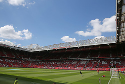A general view of the pitch at Old Trafford prior to the match