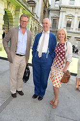 Left to right, JASON McCUE, CHARLES SAUMAREZ SMITH and MARIELLA FROSTRUP at the preview party for The Royal Academy Of Arts Summer Exhibition 2013 at Royal Academy of Arts, London on 5th June 2013.