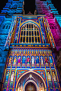 The Light of The Spirit<br /> by Patrice Warrener at Westminster Abbey - Lumiere London: the 'biggest-ever' light festival to hit the capital.  Produced by Artichoke and supported by the Mayor of London, for four evenings in January a host of international artists illuminate the city from 6:30pm to 10:30pm each night.  Iconic architecture has been transformed with 3D projections, interactive installations and other extraordinary light works.