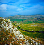 Limestone scenery, Norber, Yorkshire Dales national park, England